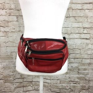 Handbags - Fashion red faux leather fannypack hip belt bag
